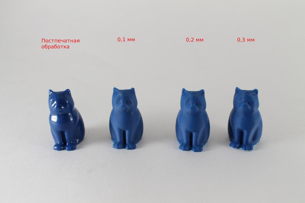 3D печать | 3D принтеры |Ростов-на-Дону. Что такое высота/толщина слоя?